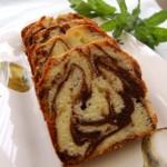 6月・マーブルケーキ ココアとプレーンのマーブル模様がきれいです。