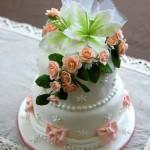 結婚式の受付用ケーキ