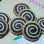 渦巻きクッキー&格子模様のクッキー