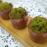 抹茶花豆ケーキ 抹茶生地の中に花豆を入れてみました。